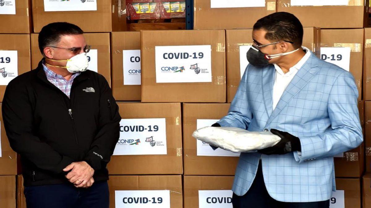 Gobierno recibe primera entrega del CONEP de pruebas y equipos para detección del coronavirus