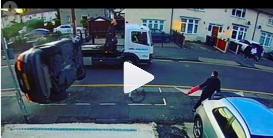 Video: Momento impactante en el que un hombre corre por su vida