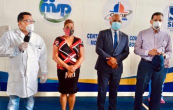 Ministerio de Salud Pública y Servicio Nacional de Salud entregan hospital móvil en Bonao para pacientes de COVID-19