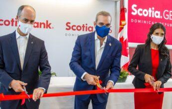 Presidente Abinader encabeza inauguración del Campus de Servicios Globales del Scotiabank