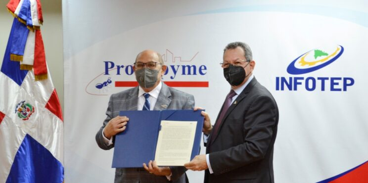 PROMIPYME e INFOTEP implementarán programa de Capacitación y Asistencia Técnica a empresas beneficiadas con créditos