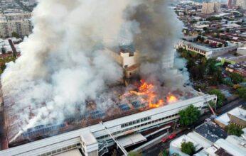 Se incendia hospital en Chile