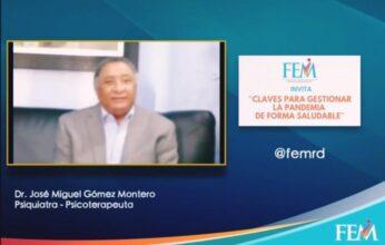 """José Miguel Gómez Montero ofrece conferencia virtual """"Claves para Gestionar la Pandemia de Forma Saludable"""""""