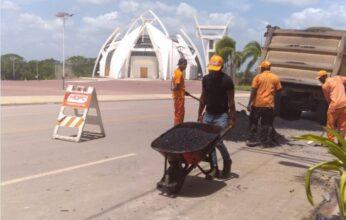 MOPC y alcaldía de Bayaguana realizan trabajos  en conjunto