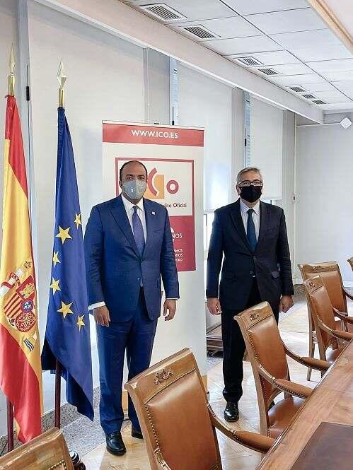 Administrador general de Banreservas se reúne con gobernador del Banco de España