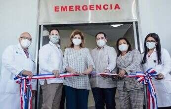 Vicepresidenta de La República y Ministro de MIVHED entregan Emergencia del Hospital General Dr. Vinicio Calventi en Los Alcarrizos